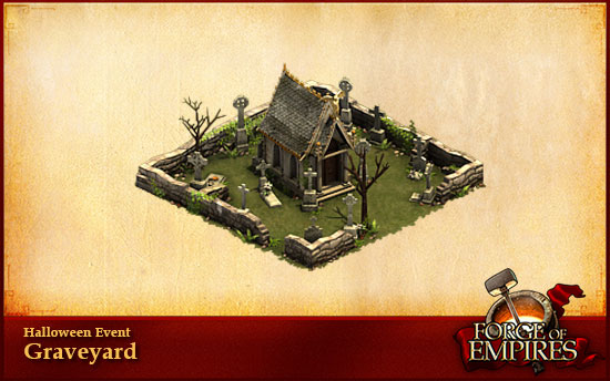 Ein Friedhof zu Halloween bei Forge of Empires