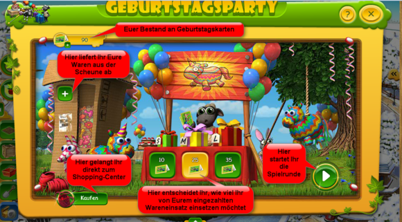 "Farmerama: Event ""Geburtstagsparty"""