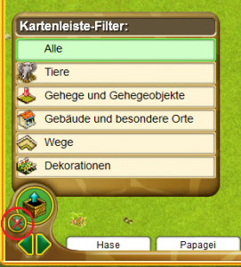 My Free Zoo: Kategorie-Filter