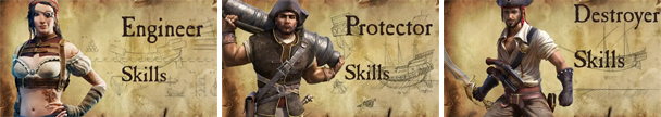 Kartuga Skilltrees: Engineer, Destroyer und Protector