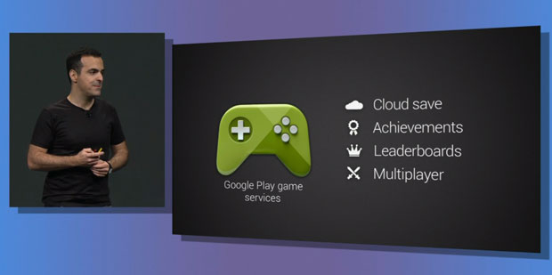 Vorstellung des Google Play Games Service auf der Keynote